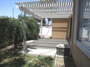 Backyard enclosed, patio cover